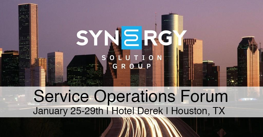 Synergy to Host Service Operations Forum in Houston
