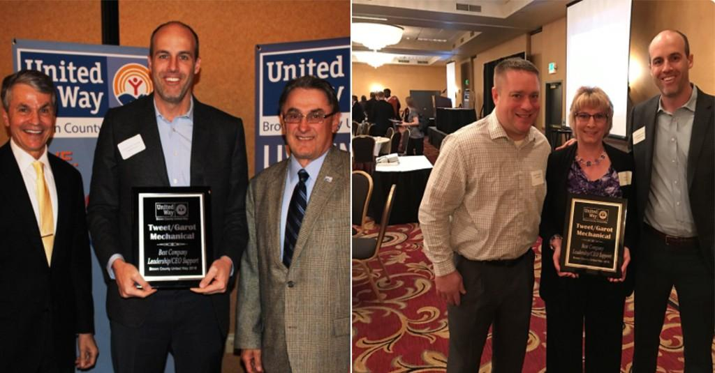 Tweet/Garot Recognized by Brown County United Way