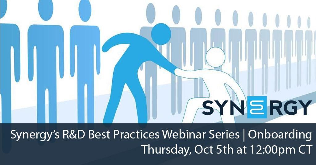 Synergy's R&D Best Practices Webinar Series | Onboarding