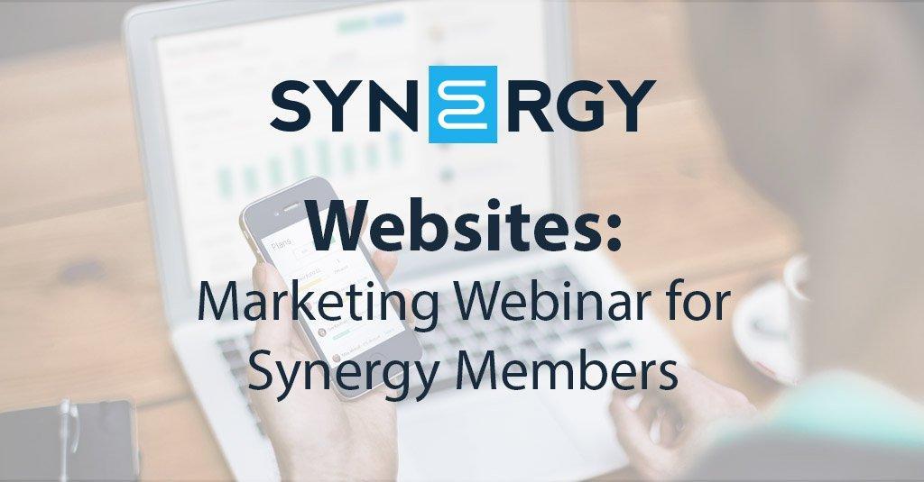 Marketing Webinar for Synergy Members | Websites