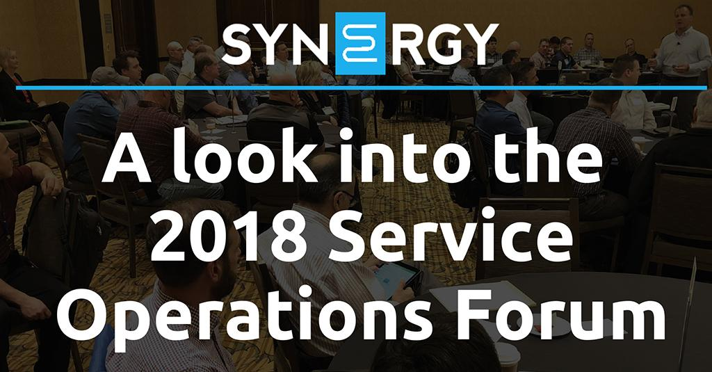 A Look Into the 2018 Service Operations Forum