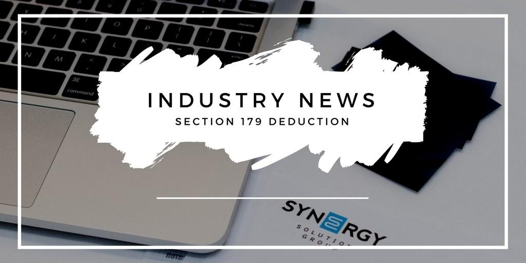 Industry News | New Section 179 Deduction