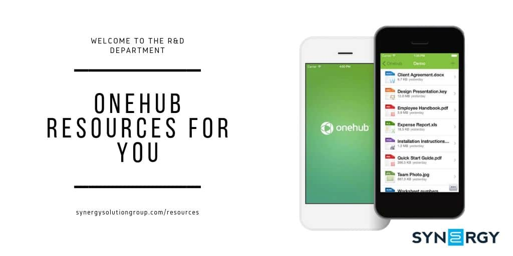 OneHub Resources For You