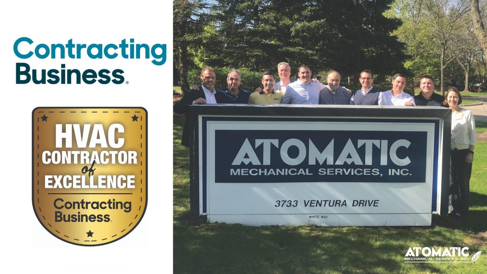 Commercial HVAC Contractor of Excellence: Atomatic Mechanical Services