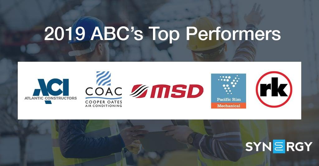 Five Synergy Members Make ABC Top Performers Lists
