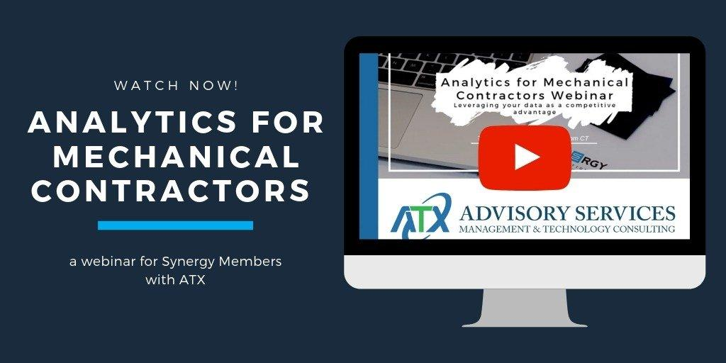 Watch The Analytics for Mechanical Contractors Webinar | Synergy Resources