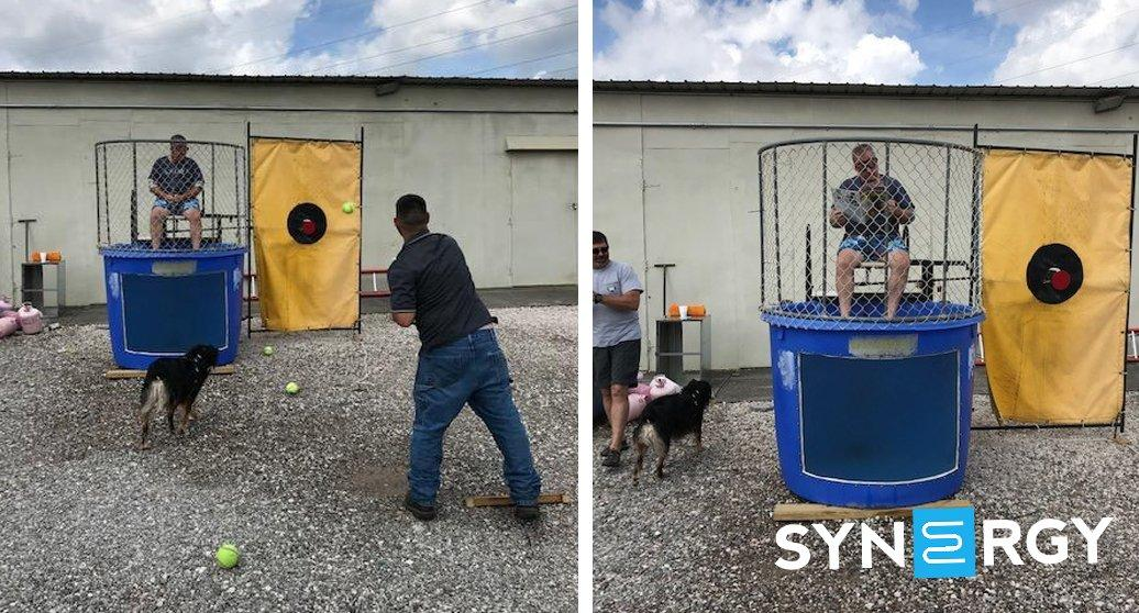 Interstate Mechanical Service Cools Off with Dunk Tank