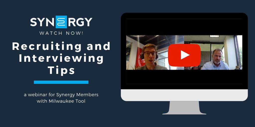Synergy Hosts Recruiting and Interviewing Tips Webinar