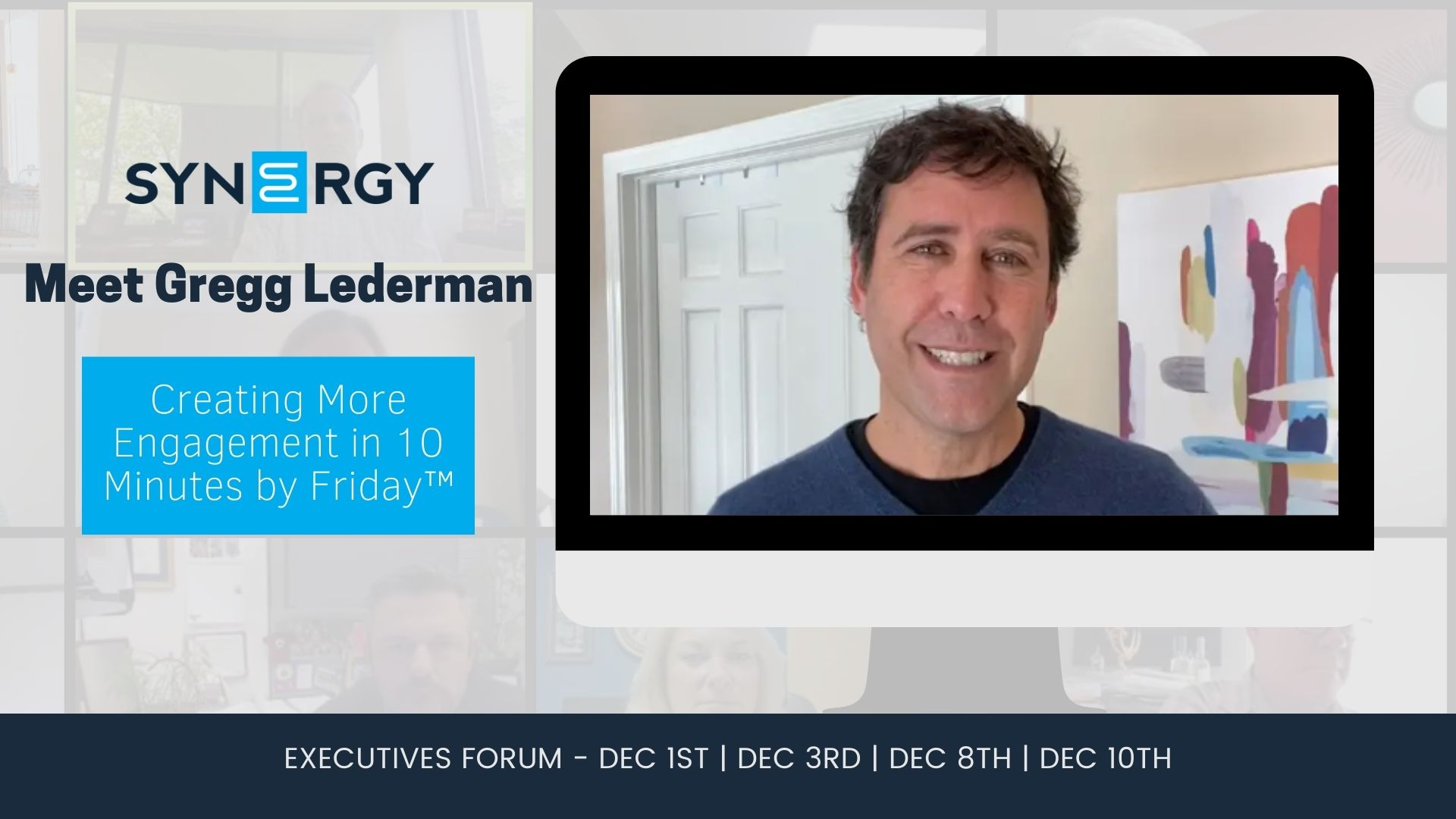 Gregg Lederman To Kick Off Synergy Virtual Executive Forum
