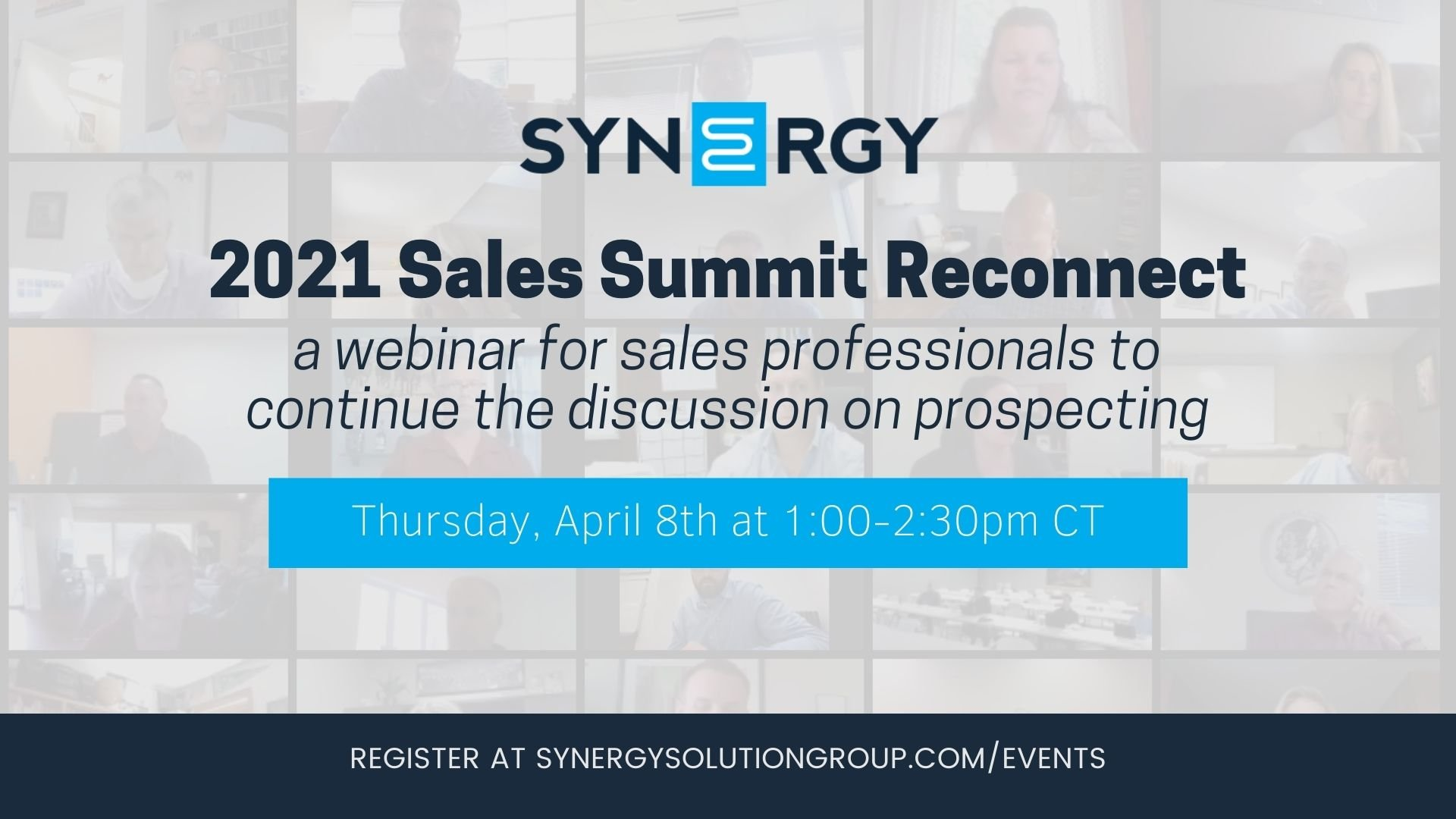 Synergy to Host 2021 Sales Summit Reconnect