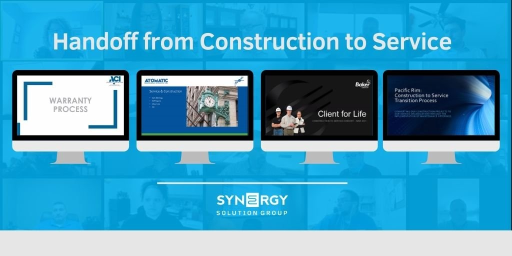 Synergy Hosts Handoff from Construction to Service Webinar